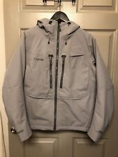 Brand New No Tags ~ Simms Bulkley Wading Jacket ~ Size Small ~ Concrete Color