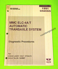 1991 Laser Dodge Colt Stealth Talon ELC4AT Transaxle Diagnostic Service Manual