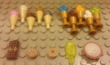 Lego NEW 25 pc. Dessert Food Lot - Ice Cream Chocolate Bar Cookie Popsicle Pie
