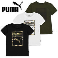 Boys PUMA T Shirts Tops Short Sleeve Junior Tee Kids Age 9 10 11 12 13 14 Yrs