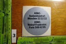 """Alter Aufkleber Automobilclub ADAC Auslandsnotruf """"E"""""""