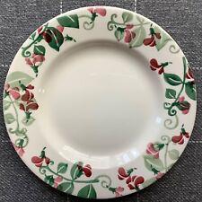 "EMMA BRIDGEWATER Pale Sweet Pea . 8-1/2"" PLATE Flowers . Mothers Day"