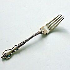 """Vintage Ornate Du Barry International Silver Sterling Silver 7 3/8"""" Dinner Fork"""