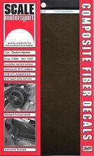 SCALE MOTORSPORT 1/20 Comp. Carbon Kevlar Decal Black on Amber SMO1220