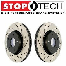 NEW Fits Honda S2000 2000-2009 Front Set Pair of StopTech Drilled Brake Rotors