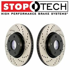 For Honda S2000 2000-2009 Front Set Pair of StopTech Drilled Brake Rotors