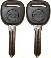 2 NEW UNCUT CHEVROLET TRANSPONDER CHIP IGNITION KEY B111-PT W/Chevy Bow-Tie Logo