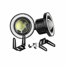 "2x COB Car High Power 3.5"" Projector LED Fog Lights Lamps Halo Angel Eyes Rings"