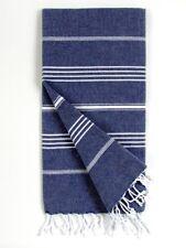 Cacala Pure Series Turkish Bath Towels, Dark Blue