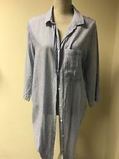 Atmosphere Womens Blue Striped 100% Cotton Long Top Size 16 (11)