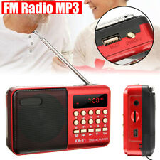 Portable Mini FM AM Radio LCD Digital Speaker MP3 Music Player AUX USB TF Card