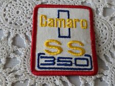 Vintage Chevy Camaro SS 350 Auto Car Club Jacket Hat Seat Cover Patch Crest