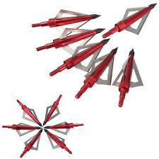 6pcs Arrow Heads Blood Runner Broadhead 100 Grain Broad Archery Hunting Tips Set