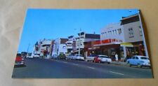Vintage  Postcard Fort Bragg California Downtown 1950s Cars