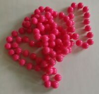 vintage Neon Pink lucite bead necklace