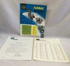 1969 MP FLOMAX PUMPS PRODUCT BROCHURE & PRICE LIST Self-Priming Centrifugals2344