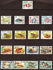 CAMBODGE Les poissons de mer et d'aquarium  G140