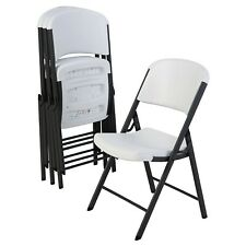 Lifetime Commercial Grade Contoured Folding Chair, 4 Pack White *FREE SHIPPING*