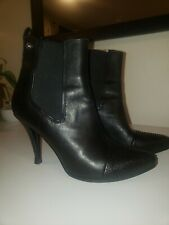 Diesel Women's Black Leather Stiletto Ankle Boots sz 8