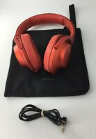 Sony MDR-100A Wired Headphones - Red