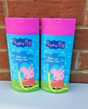 Peppa Pig Bath and Shower Gel for Kids 400ml Set of 2 Brand New