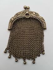 Ancien Joli Porte Monnaie en Argent a Decors de Gui - Mistletoe - ヤドリギ