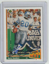 BARRY SANDERS Lions SIGNED 1991 Upper Deck Football #458 Autograph ON CARD AUTO