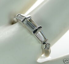 Epiphany Platinum Clad Solid 925 Sterling Silver Diamonique Band Ring Sz-8 '