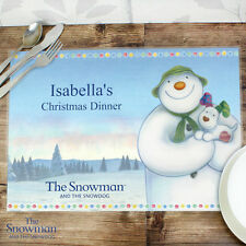 Personalised The Snowman and the Snowdog Christmas Dinner Placemat