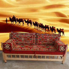 Arabic majlis floor sofa with wooden bench,patio furniture,hookah bar / SHI_FS42