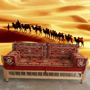 WOODEN Bench with Cushions | MAJLIS Style Furniture | PATIO Seating