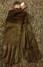 Ladies Ashwood Leather Gloves, Size 7.5, Brown