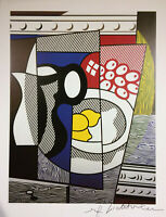 ROY LICHTENSTEIN SIGNED * CUBIST STILL LIFE WITH LEMONS * PRINT