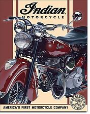 Indian Motocycles America's First Motorcycle Brown/Cream metal sign   (de)