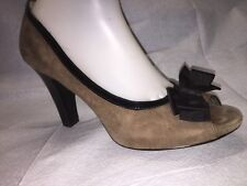 Sofft Brownish Suede Leather Open Toe Heels Size 10 M