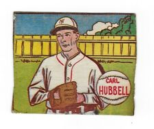 Vintage - 1943 - Carl Hubbell - MP & Co - Indians - Hand Cut