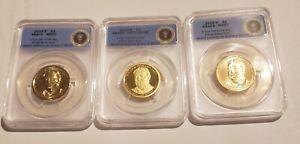 2013 P D S William Taft BU & Proof Dollar Set ANACS 67, 67, 70 First Strikes