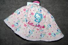 M&S Hello Kitty Bucket Hat Sunhat Pink Age 18 Months-3 Years New Tags Defaced