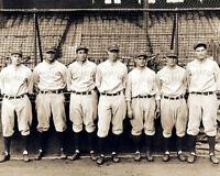 Gehrig Lazzeri Koenig Durocher Photo 8X10 - 1928 Yankees