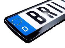 2 x brillant schwarz HOCHGLANZ EU Kennzeichenhalter Nummernschildhalter KFZ PKW