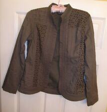 Chico's light jacket, size 0,(4-6) mint green, open cardigan 100% cotton