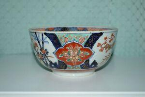 Antique Japanese Imari hand painted 19th century porcelain bowl.