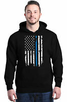 American Flag Blue Line USA Hoodies Law Enforcement Police Sweatshirts