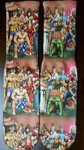 Custom Street Fighter dry fit socks bred infared  galaxy Toro