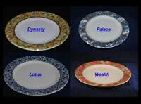Melamine Round Plates Dishes Tray Set of 12 Dynasty Palace Wealth Lotus Chinese