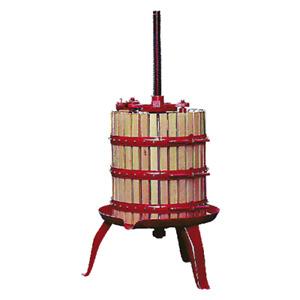 Torchio per vinacce a cricco Ø 20 a leva 11 lt per vendemmia uva vino mosto