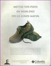 ▬► PUBLICITE ADVERTISING AD COLUMBIA chaussures