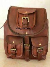 Genuine Adjustable Strap Briefcase Laptop Vintage Leather Backpack Bag Satchel