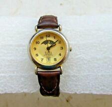 Ladies Kathy Ireland Designer Moon Phase Date Quartz vintage Watch leather strap