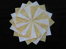 30 4x4 Yellow Quilt Fabric Squares~4058b